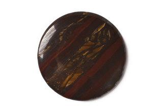 Tigrie železo - tiger iron - okrúhly, opracovaný kameň